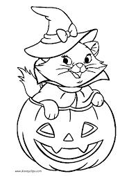 Inspiring Design Halloween Coloring Pages Marie In Pumpkin Sheet