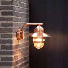 boom collection copper led outdoor wall light 1171 bega in lights