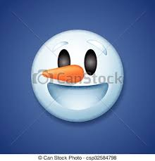 Snowman Emoticon Laughing Holiday Emoji Smile