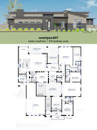 104 Contemporary Modern Floor Plans Courtyard House Plan Custom House 94334