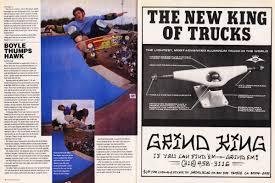 100 Grind King Trucks Thrasher Magazine July 1992