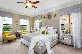 Yellow And Gray Bedroom Decor Photo