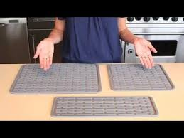 oxo large silicone drying mat youtube