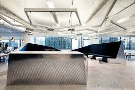 This Milled Aluminum Reception Desk Is At The Entrance To McCann Ericksons Executive Level Image Tom Dixon