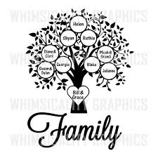 Family Tree Blank Template With SVG DXF PNG Commercial Personal Use