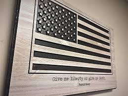 American Flag Wall Art Wooden Wood Large US Sign