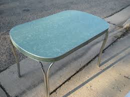 Vintage Deco Kitchen Table Dreamy 50s Teal