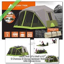 Ozark Trail 14' X 13' Instant Cabin Tent 9 Person 2 Room Outdoor ... Tents 179010 Ozark Trail 10person Family Cabin Tent With Screen Weathbuster 9person Dome Walmartcom Instant 10 X 9 Camping Sleeps 6 4 Person Walmart Canada Climbing Adventure 1 Truck Tent Truck Bed Accsories Best Amazoncom Tahoe Gear 16person 3season Orange 4person Vestibule And Full Coverage Fly Ridgeway By Kelty Skyliner 14person Bring The Whole Clan Tents With Screen Room Napier Sportz Suv Room Connectent For Canopy Northwest Territory Kmt141008 Quick C Rio Grande 8 Quick