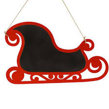 Raz Artificial Christmas Trees by Decorate A Raz Chalkboard Sleigh With Bow Made From Scrap Ribbon