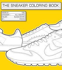 Sumptuous Design Inspiration Sneaker Coloring Book CHRONICLE BOOKS THE SNEAKER COLORING BOOK