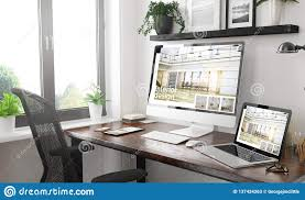 100 Home Interior Website Black And White Responsive Devices Mockup Responsive