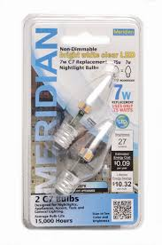 13178 led c7 clear bright replacement bulb