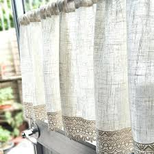 Rustic Kitchen Window Treatments Style Curtains Cabin