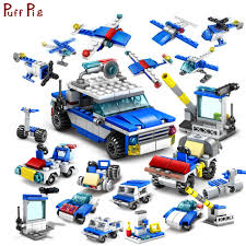 Hot Sale 305pcs 16 IN 1 City Construction Cop Trucks Cars Helicopter ...