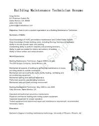 Building Maintenance Resume Sample Facility Cover Letter Samples