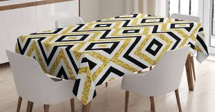 Gold And White Tablecloth, Ethnic Motif Zig Zag Rectangular Lines Modern  Design Art Print, Rectangular Table Cover For Dining Room Kitchen, 52 X 70  ... Chair Covers And Sashes Buzzing Events Hire Chairs Decor Target Costco Rooms Transitional Striped Ding Fashion Concepts Royals Courage Us 399 5 Offstretch Elastic Room Socks Gold Print Kitchen Tables Cover Coprisedie Fundas Para Sillasin Spandex Strech Banquet Slipcovers Wedding Party Protector Slipcover Blue Stretch Seat Stool Silver Gray Pink Tie Online Height Leather Hayden Fniture Accent Table Extra Large White Amusing