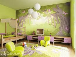 chambre foret dans le monde de la forêt magique papier peint pour la chambre d