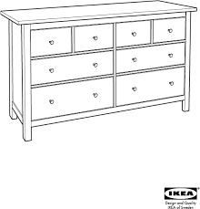 Ikea Hemnes Dresser 6 Drawer Instructions by Download Ikea Hemnes Chest 8 Drawers 64x38