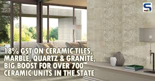 big boost for ceramic industry 18 gst on ceramic tiles marble