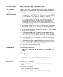 Sample Resume Maintenance Worker 8 Examples In Word For Property Manager
