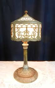 Ebay Antique Table Lamps by Antique Slag Glass Boudoir Table Lamp Made By Miller Company