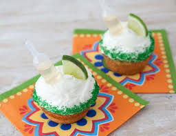 Tequila Infused Margarita Cupcakes