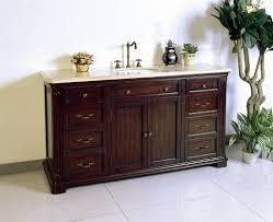 Single Sink Bathroom Vanity With Granite Top by Antique 60 Inch Dark Cherry Brown Single Sink Bathroom Vanity 60