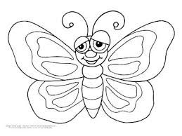 Butterflies Coloring Page Easy Smiley Face Butterfly