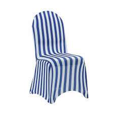 Stretch Spandex Banquet Chair Cover Striped White And Royal Blue Strands By Waverly One Piece Chair Slipcover For Dayton Arm Host Chairs Ethan Allen Spandex Elastic Floral Print Letter Pattern Slipcovers Stretch Subrtex 2piece Stretchable Wing Back Cotton Herringbone Ding Prting Modern Removable Antidirty Kitchen Seat Case Cover Banquet Set Of 4 Grey Home Fashion Designs Teal Jersey Four Recling Chair T Cushion Gray Sure Fit Armchair Covers Roomdark 6 Velvet Large Surprising New Design Of Armless With