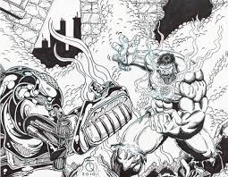 Hulk Vs Hulkbuster Ink By TyndallsQuest