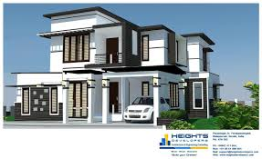 100 Home Dision 1600 Sqft 3 BHK Double Floor Contemporary Kerala Design