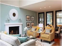 blue living room paint