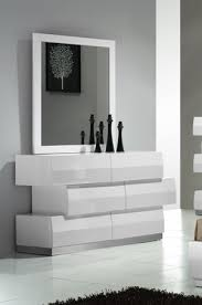 buy milan white 6 drawer dresser and mirror by j and m from www