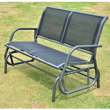 Outsunny Patio Furniture Cushions by Patio Bench Glider Plans Outdoor Glider Bench Patio Glider Bench