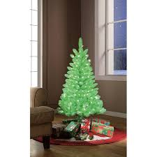 Holiday Time Pre Lit 4 Lime Green Artificial Christmas Tree Clear Lights