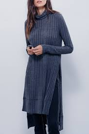 color turtle collar sweater dress