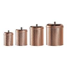 Wayfair Kitchen Canister Sets by Amazon Com Amici Home Mauritius Round Hammered Canister Set Of 4