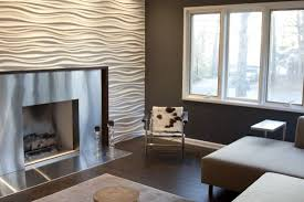 Accent Wall With Textured 3D Panels