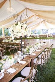 Rustic Glam Garden Party Tent Wedding Decor
