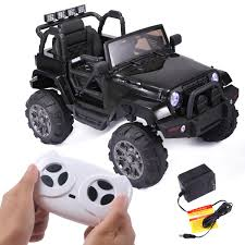 100 Truck Power Wheels 12V Kids Ride On Car Racing Jeep Battery Electric Music