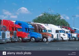 100 Truck Stops California S Lined Up At Truck Stop In Central Stock Photo