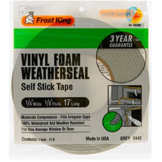 "Frost King Vinyl Foam Tape - 1/8"", Grey"