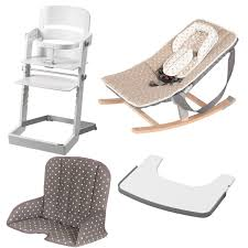 chaise haute blanche geuther pack chaise haute tamino transat tablette