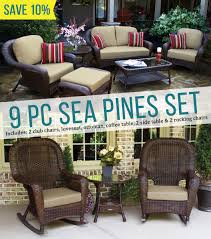 Sea Pines 9 Piece Seating Set - Java Wicker | Save 10% The Gripper 2piece Delightfill Rocking Chair Cushion Set Patio Festival Metal Outdoor With Beige Cushions 2pack Fniture Add Comfort And Style To Your Favorite Nuna Wood W Of 2 By Christopher Knight Home Details About Klear Vu Easy Care Piece Maracay Head Java Wicker Enstver Bistro 2piece Seating With Thickened Blue And Brown Amish Bentwood Rocking Chair Augustinathetfordco Splendid Comfortable Chairs Nursing Wooden Luxury Review Phi Villa 3piece