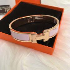 hermes h clic clac hermes clic h gold plated enamel bracelet ebay