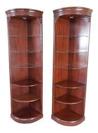 Pulaski Glass Panel Display Cabinet by Vintage U0026 Used Mahogany China And Display Cabinets Chairish