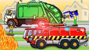 Fire Truck & Garbage Truck: Diggers For Kids | Cartoon For Children ... Garbage Truck Videos For Children Green Kawo Toy Unboxing Jack Trucks Street Vehicles Ice Cream Pizza Car Elegant Twenty Images Video For Kids New Cars And Rule Youtube Blue Tonka Picking Up Trash L The Song By Blippi Songs Summer City Of Santa Monica Playtime For Kids Custom First Gear 134 Scale Heil Cp Python Dump Crane Bulldozer Working Together Cstruction