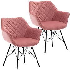 duhome 2er set esszimmerstuhl aus stoff samt polsterstuhl mit metallgestell retro design armlehnstuhl polstersessel stuhl mit rückenlehne sessel