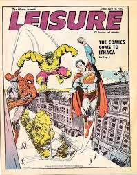 The Ithaca Journal Leisure Friday April 16 1982 Apr NM 2000 SM Article Story Comics Come To Summary Spider Man On Cover