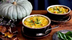 Japanese Pumpkin Salad Recipe by Chicken And Pumpkin With Dumplings Recipe Nyt Cooking